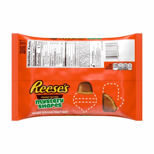 Reese's Milk Chocolate Peanut Butter Mystery Shapes Holiday Candy Perspective: back