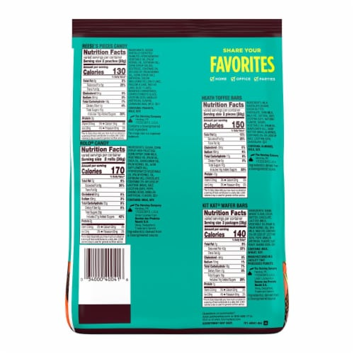 Hershey's Snack Size Candy Assortment Party Pack Perspective: back