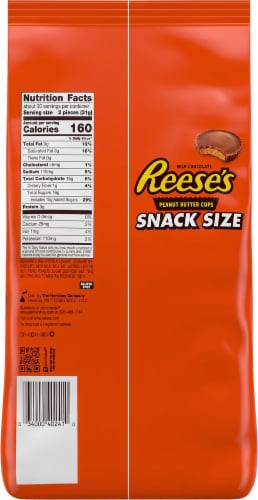 Reese's Snack Size Peanut Butter Cups Perspective: back