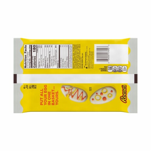 Reese's Easter White Chocolate Peanut Butter Eggs Perspective: back