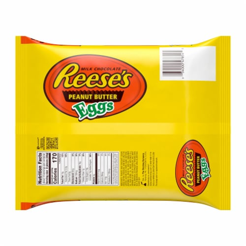 Reese's Milk Chocolate Peanut Butter Eggs Big Bag Perspective: back