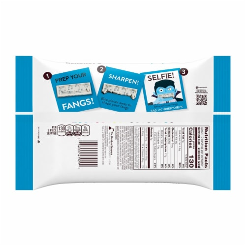 Hershey's Cookies 'N' Creme Fangs Snack Size Candy Bars Perspective: back
