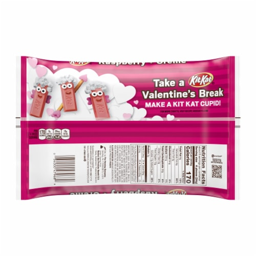 Kit Kat Valentine's Raspberry plus Crème Miniatures Candy Perspective: back
