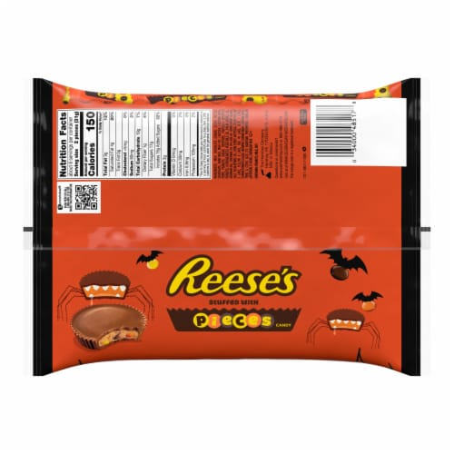 Reese's Peanut Butter Cups Stuffed With Pieces Candy Snack Size Perspective: back