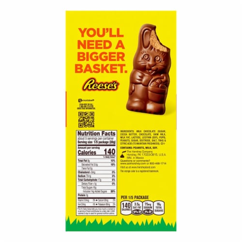 Reese's Easter Peanut Butter Reester Bunny Perspective: back