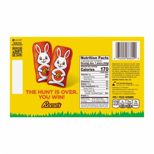 Reese's Easter Peanut Butter Reester Bunnies Candy Perspective: back