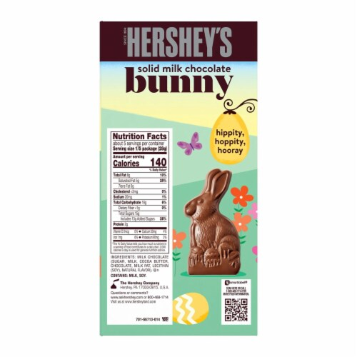 Hershey's Solid Milk Chocolate Easter Bunny Perspective: back