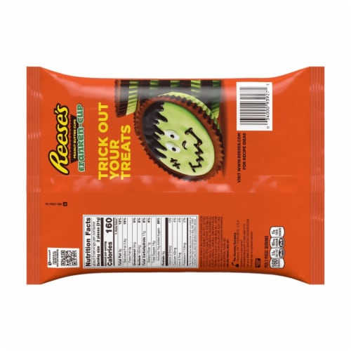 Reese's Frankenstein Snack Size Regular Peanut Butter Cups Perspective: back