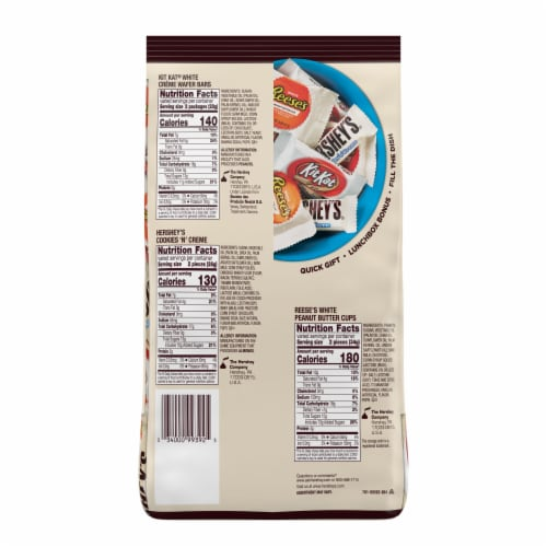 Hershey's All Time Greats White Creme Lovers Snack Size Candy Party Pack Perspective: back