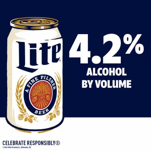 Miller Lite American Lager Beer Perspective: back