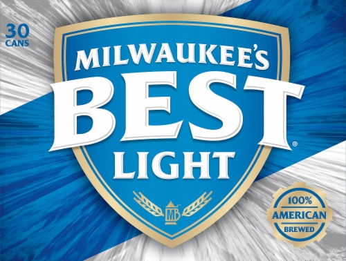 Milwaukee's Best Light American Lager Beer Perspective: back