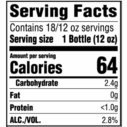 Miller64 Extra Light Lager Beer 18 Bottles Perspective: back