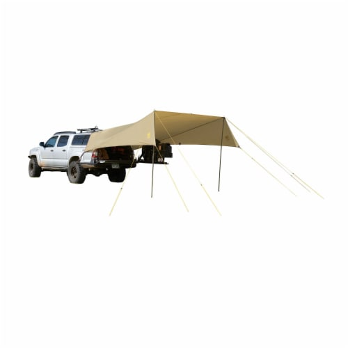 Slumberjack Roadhouse Outdoor Tarp Lightweight Vehicle Car Shelter Camping Cover Perspective: back