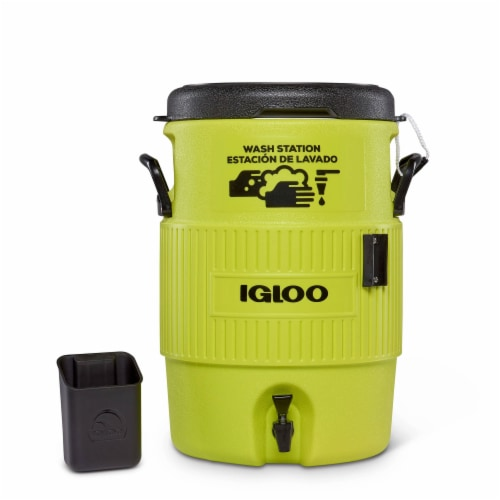 Igloo Portable 5 Gallon Camping Sports Station Water Dispenser Jug with Spigot Perspective: back