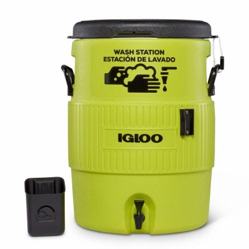Igloo Portable 10 Gallon Camping Handwash Station Water Dispenser Jug w/ Spigot Perspective: back