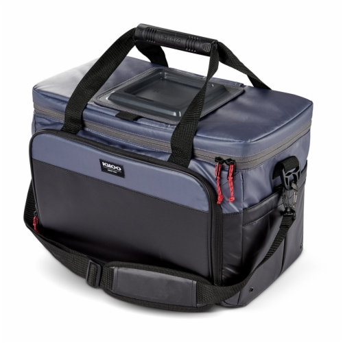 Igloo Coast Durable and Compact Insulated 36 Can Cooler Duffel Bag, Dark Blue Perspective: back