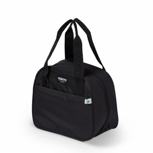 Igloo REPREVE Insulated 12 Can Soft Lily Lunch Bag Cooler with Handles, Black Perspective: back