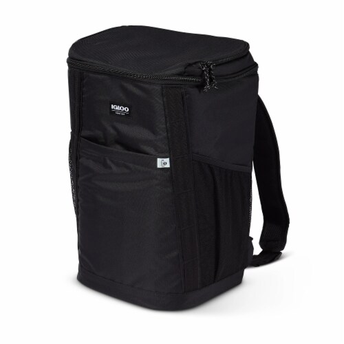 Igloo REPREVE Portable Outdoor Insulated Soft Side Backpack Cooler Bag, Black Perspective: back