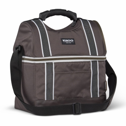 Igloo 22 Can Playmate Gripper Large Portable Lunchbox Soft Cooler Bag, Olive Perspective: back