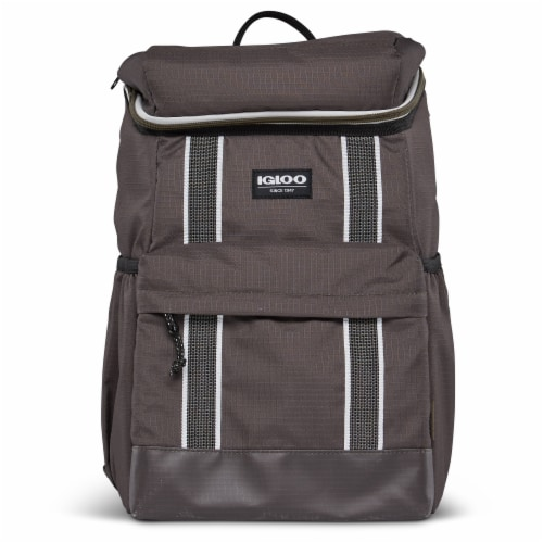 Igloo 30 Can Large Portable Insulated Soft Cooler Backpack Carry Bag, Olive Perspective: back