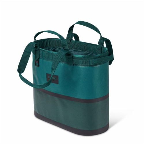 Igloo Reactor Portable 56 Can Soft Sided Insulated Cinch Cooler Tote Bag, Teal Perspective: back