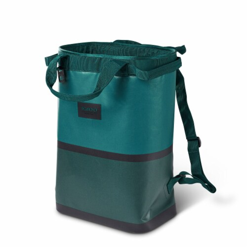 Igloo Reactor Portable 46 Can Soft Insulated Cinch Backpack Cooler Bag, Teal Perspective: back