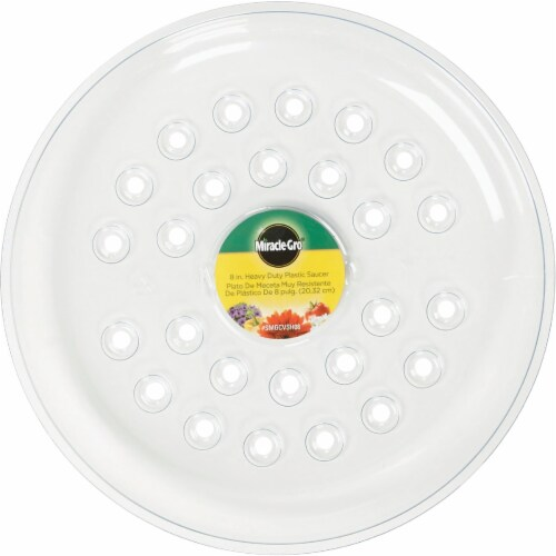 Miracle-Gro 8 In. Clear Plastic Flower Pot Saucer SMGCVSH08 Perspective: back