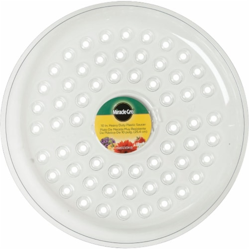 Miracle-Gro 10 In. Clear Plastic Flower Pot Saucer SMGCVSH10 Perspective: back