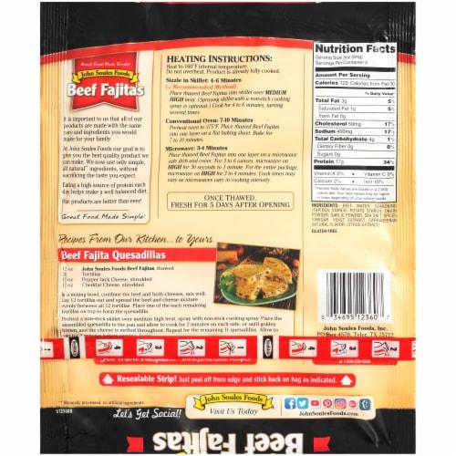 John Soules Foods® Beef Fajitas Perspective: back
