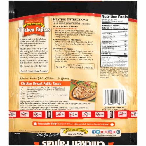 John Soules Foods Chicken Fajitas Strips Perspective: back