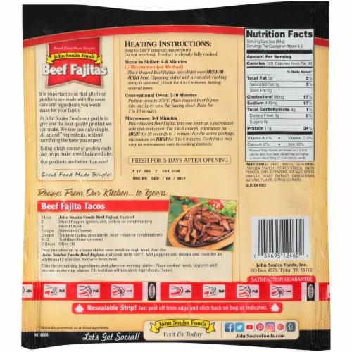 John Soules Foods Beef Fajita Strips Perspective: back