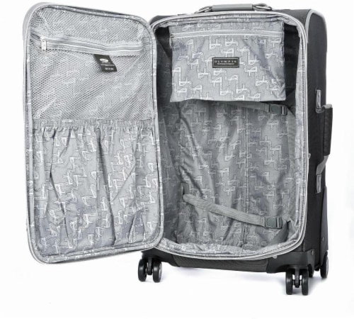 Olympia Tuscany 21-Inch Spinner Carry-On - Black Perspective: back