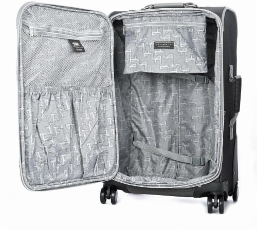 Olympia Tuscany 30-Inch Spinner Rolling Case - Black Perspective: back