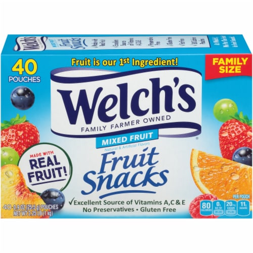 Welch's Mixed Fruit Fruit Snacks Perspective: back