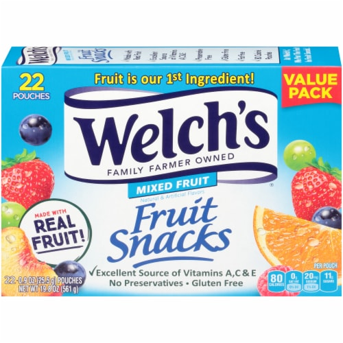 Welch's® Mixed Fruit Fruit Snacks 22 Count Perspective: back