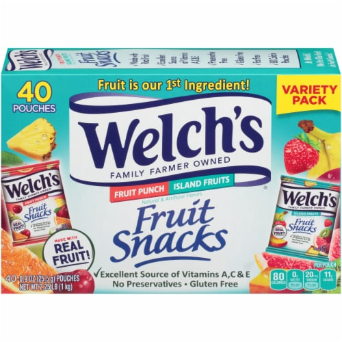 Welch's Fruit Punch/Island Fruits Combo Pack Fruit Snacks Perspective: back
