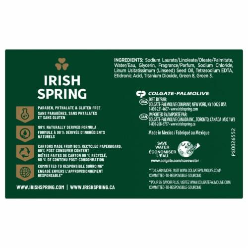 Irish Spring Original Deodorant Soap Bars Perspective: back