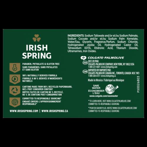 Irish Spring Deep Action Scrub Deodorant Bar Soap Perspective: back