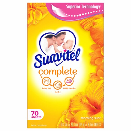 Suavitel Complete Morning Sun Fabric Softener Dryer Sheets Perspective: back