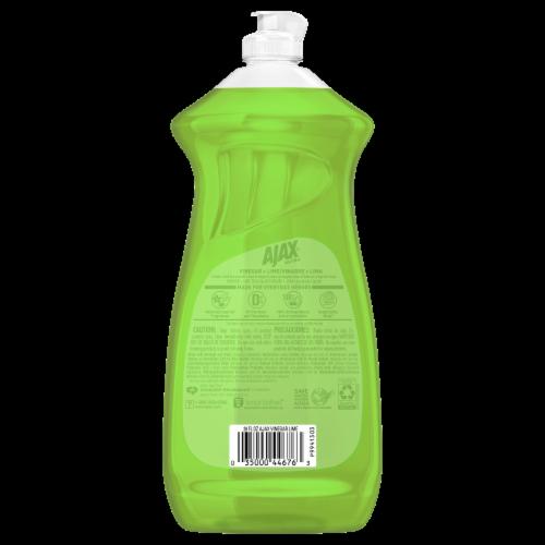 Ajax Vinegar and Lime Dishwashing Liquid Detergent Perspective: back