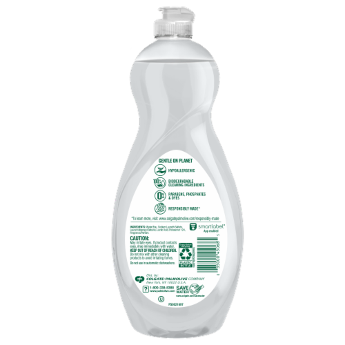 Palmolive Ultra Pure & Clear Dish Soap Perspective: back