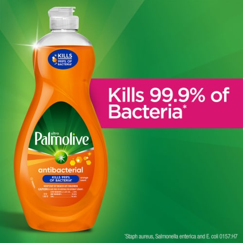 Palmolive Ultra Antibacterial Orange Dish Liquid Perspective: back