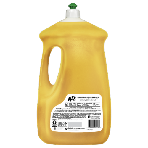Ajax Ultra Super Degreaser Lemon Dish Liquid Perspective: back