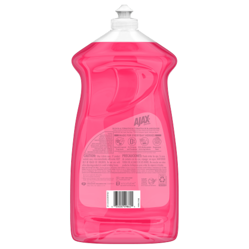 Ajax Bleach Alternative Grapefruit Dish Liquid Perspective: back