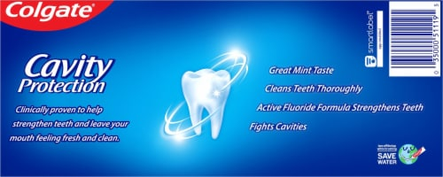 Colgate® Cavity Protection Regular Flavor Toothpaste Perspective: back