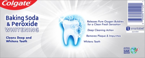 Colgate® Baking Soda & Peroxide Brisk Mint Whitening Toothpaste Perspective: back