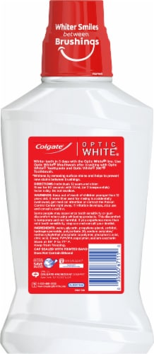 Colgate Optic White Icy Fresh Mint Mouthwash Perspective: back