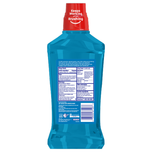 Colgate Total Pro-Shield Peppermint Blast Mouthwash Perspective: back