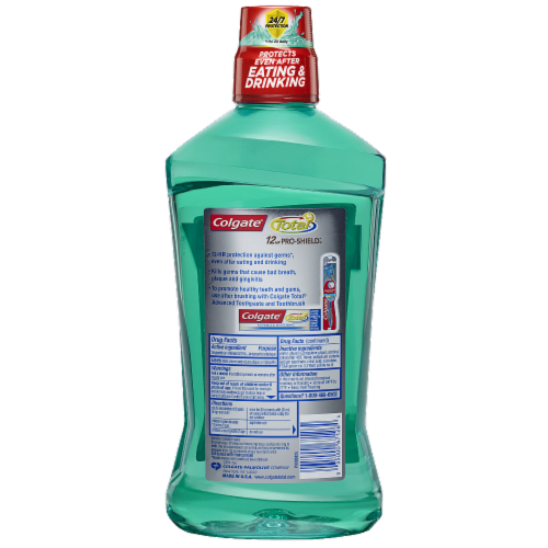 Colgate Total Spearmint Surge 12-Hour Pro-Shield Mouthwash Perspective: back