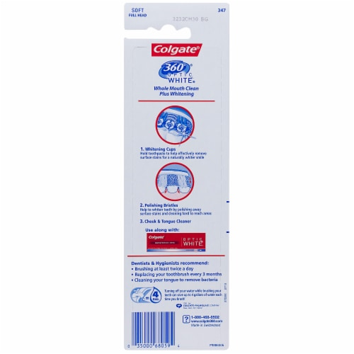 Colgate  360 Optic White Toothbrush Soft Perspective: back